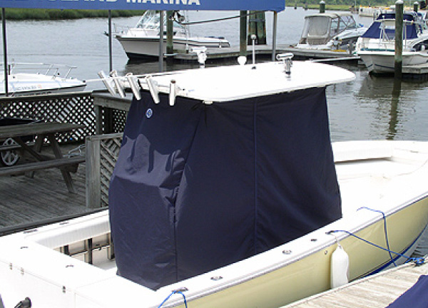 T Top Center Console Storage Curtains_on Sea Craft triton® boats factory original (oem) canvas & covers, t topless