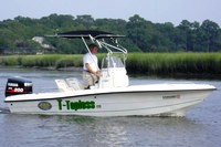 T-Topless™ folding T-Top on 2000 Sea-Pro® 180CC