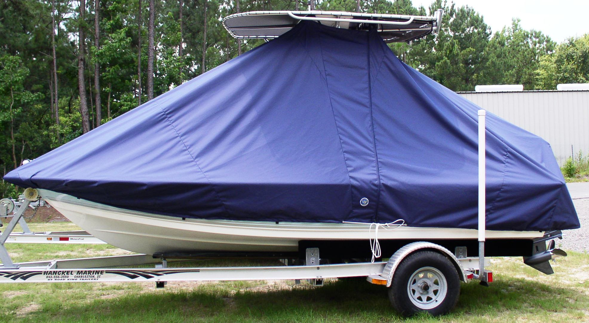Tidewater 1800 Bay Max, 20xx, TTopCovers™ T-Top boat cover, port side