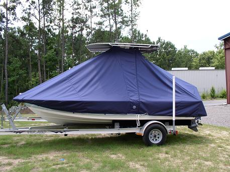 Tidewater 1800 Bay Max, TTopCovers™ T-Top boat cover Side 498
