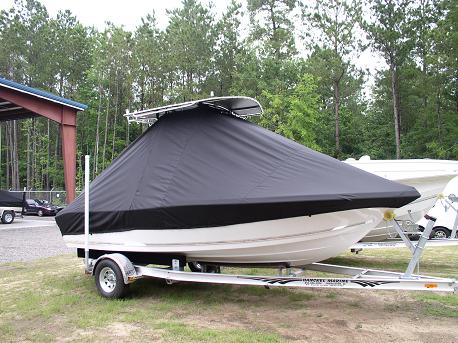Tidewater, 196CC, TTopCovers™ T-Top boat cover Front 500