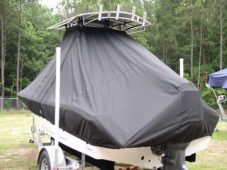 Tidewater, 196CC, TTopCovers™ T-Top boat cover Rear 500