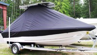 Photo of Tidewater® 198CC 20xx T-Top Boat-Cover, viewed from Starboard, Front