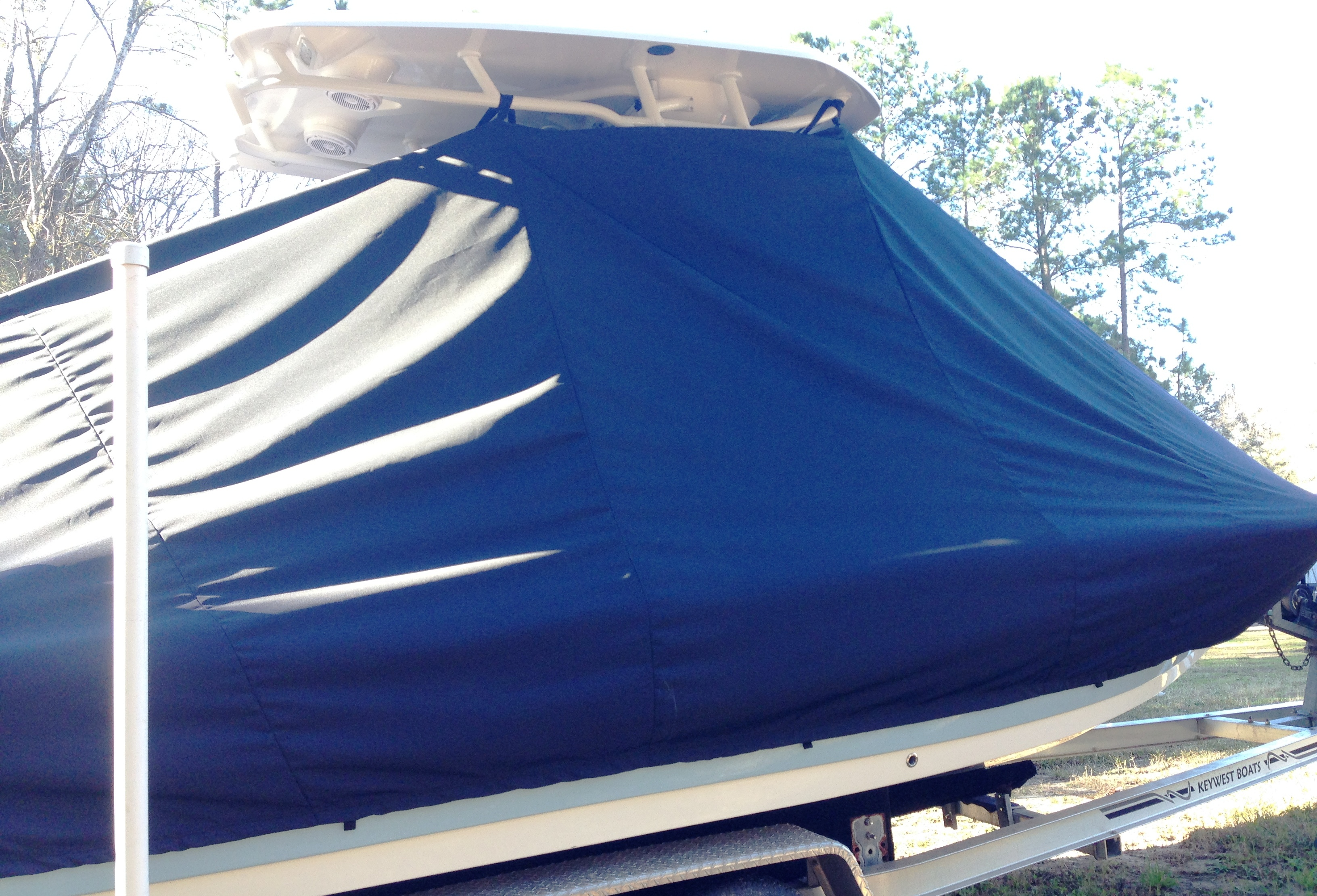 Tidewater, 2000 Carolina Bay, 20xx, TTopCovers™ T-Top boat cover, starboard side