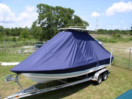 Tidewater 2100 Bay Max, 20xx, TTopCovers™ T-Top boat cover Front 501