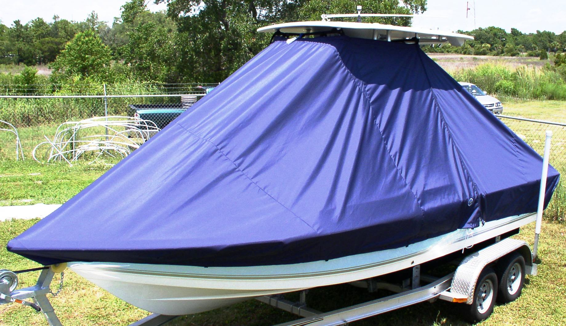 Tidewater 2100 Bay Max, 20xx, TTopCovers™ T-Top boat cover, port front