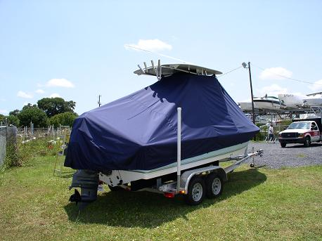 Tidewater 2100 Bay Max, TTopCovers™ T-Top boat cover Rear 501