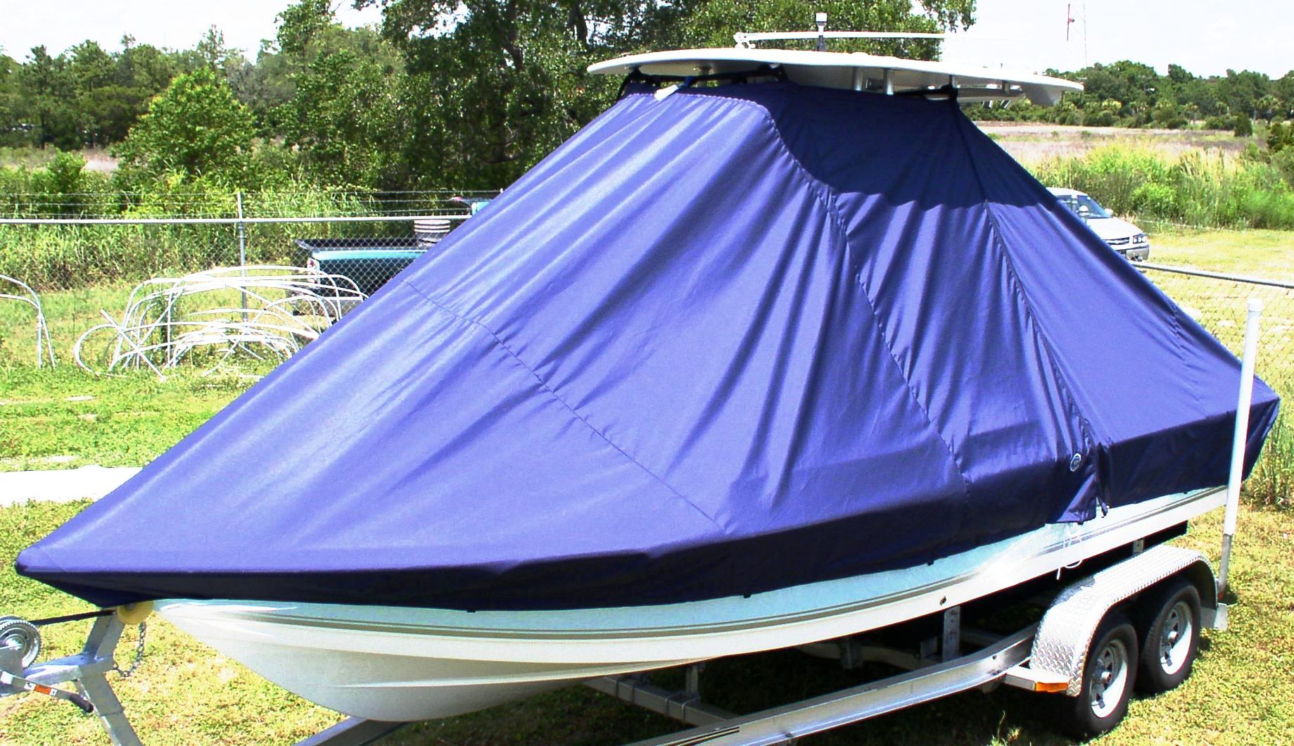Tidewater 2110 Bay Max, 20xx, TTopCovers™ T-Top boat cover, port front