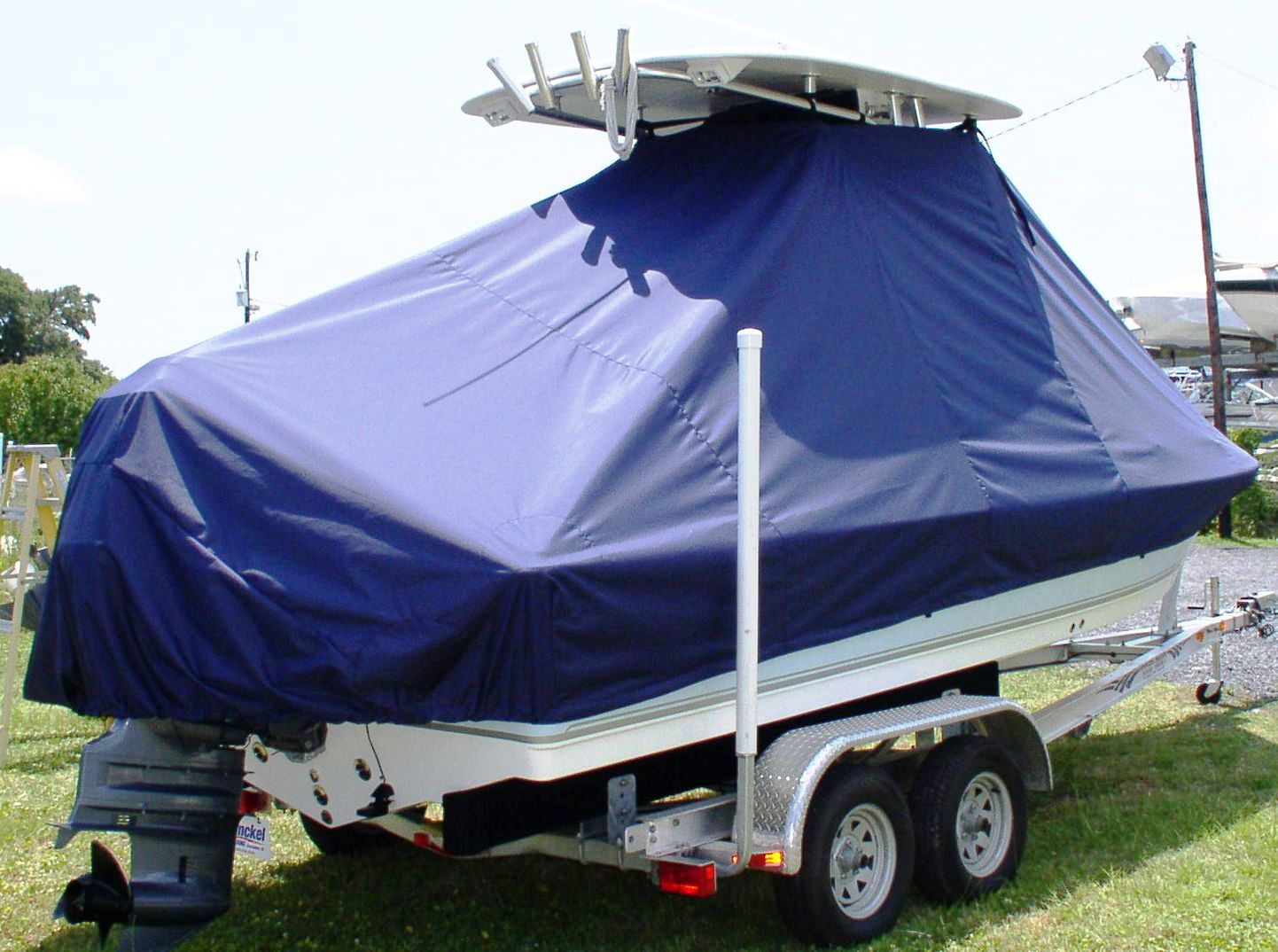 Tidewater 2110 Bay Max, 20xx, TTopCovers™ T-Top boat cover, starboard rear
