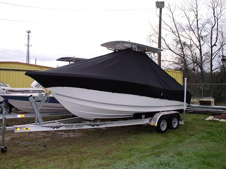 Tidewater 216CC, 20xx, TTopCovers™ T-Top boat cover Front 502