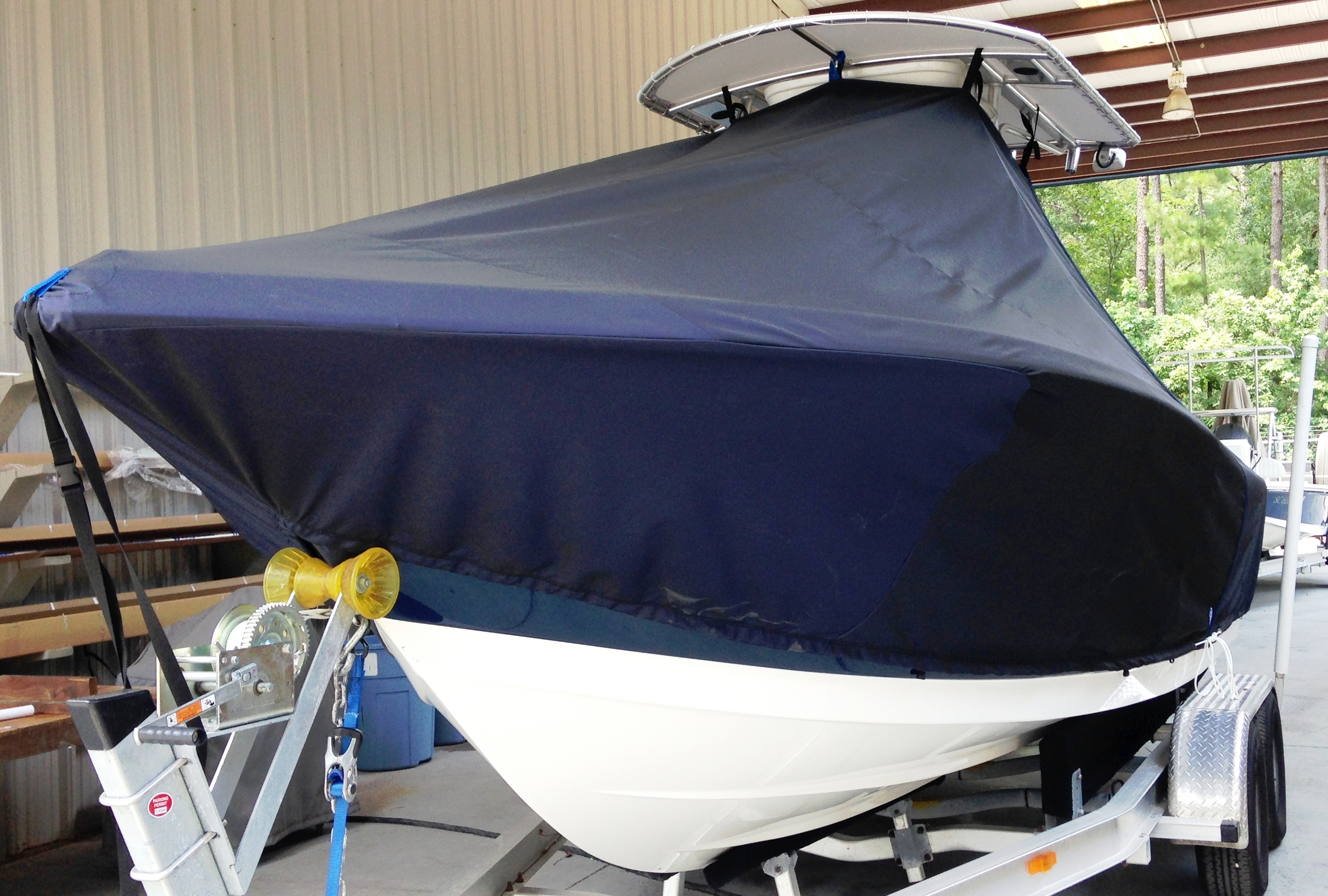 Tidewater 216CC, 20xx, TTopCovers™ T-Top boat cover, port front