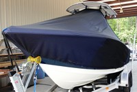 Photo of Tidewater® 216CC 20xx T-Top Boat-Cover, viewed from Port Front
