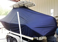Photo of Tidewater® 216CC 20xx T-Top Boat-Cover, viewed from Port Rear
