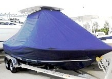 Tidewater 2200 Carolina Bay, 20xx, TTopCovers™ T-Top boat cover Blue Bottom, starboard front