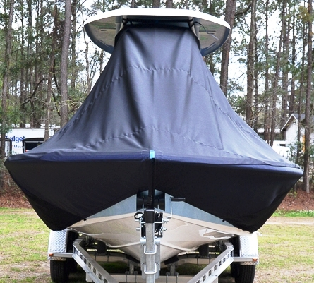 Tidewater 2200 Carolina Bay, 20xx, TTopCovers™ T-Top boat cover front