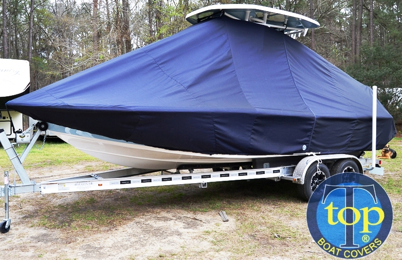 Tidewater 2200 Carolina Bay, 20xx, TTopCovers™ T-Top boat cover, port front