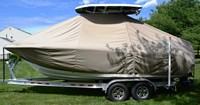 Photo of Tidewater® 220CC 20xx T-Top Boat-Cover, viewed from Port, Side