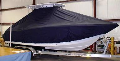 Tidewater 230CC, 20xx, TTopCovers™ T-Top boat cover Front 537