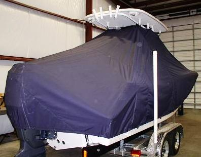 Tidewater 230CC, 20xx, TTopCovers™ T-Top boat cover Rear 537