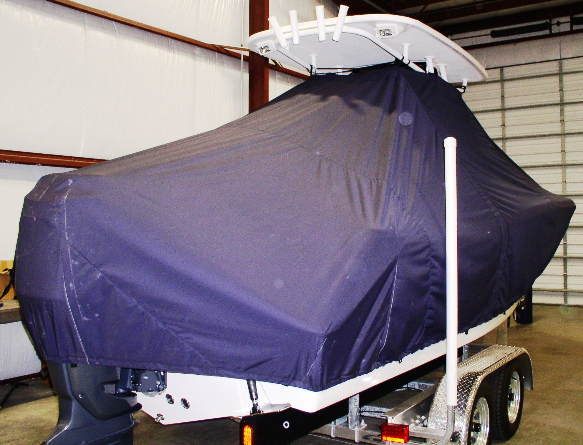 Tidewater 230CC, 20xx, TTopCovers™ T-Top boat cover, starboard rear