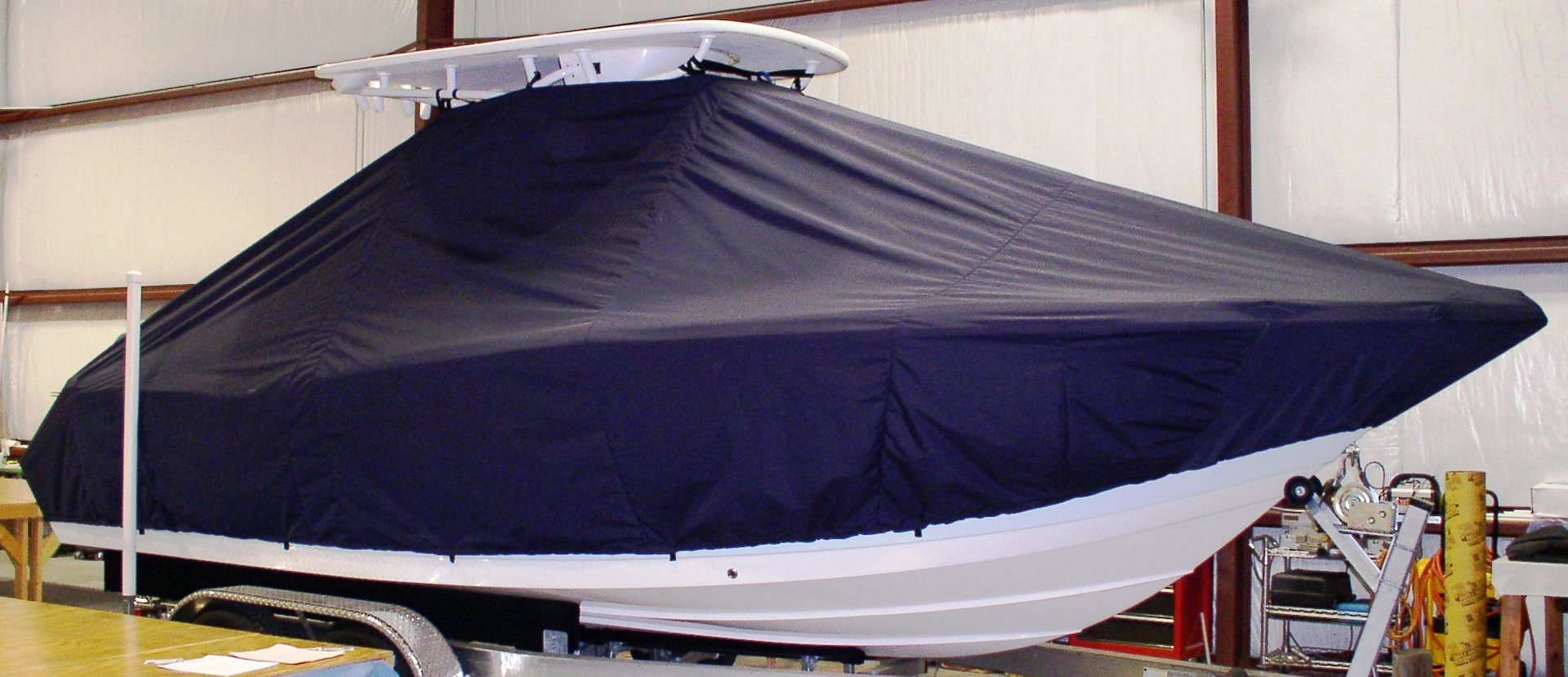 Tidewater 230CC, 20xx, TTopCovers™ T-Top boat cover, starboard side