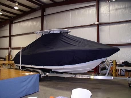 Tidewater 230CC, TTopCovers™ T-Top boat cover Front 537