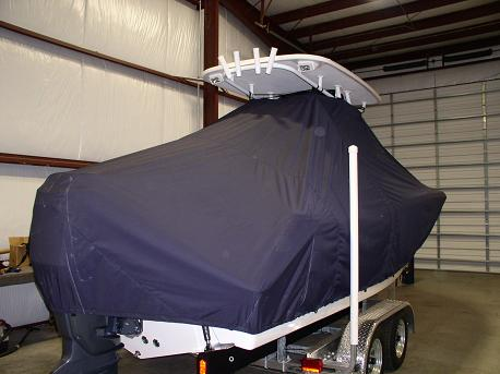 Tidewater 230CC, TTopCovers™ T-Top boat cover Rear 537