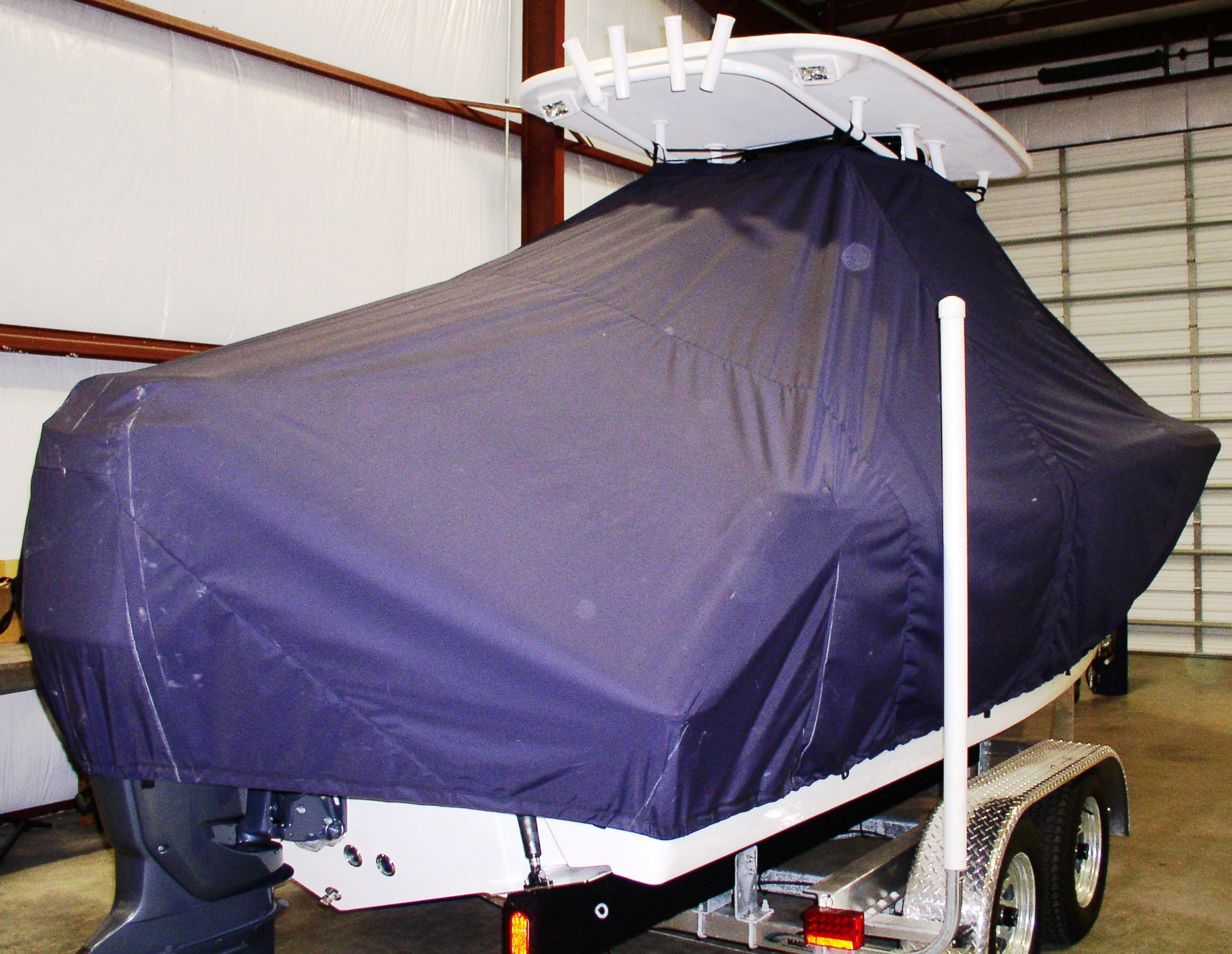 Tidewater 230LXF, 20xx, TTopCovers™ T-Top boat cover, starboard rear
