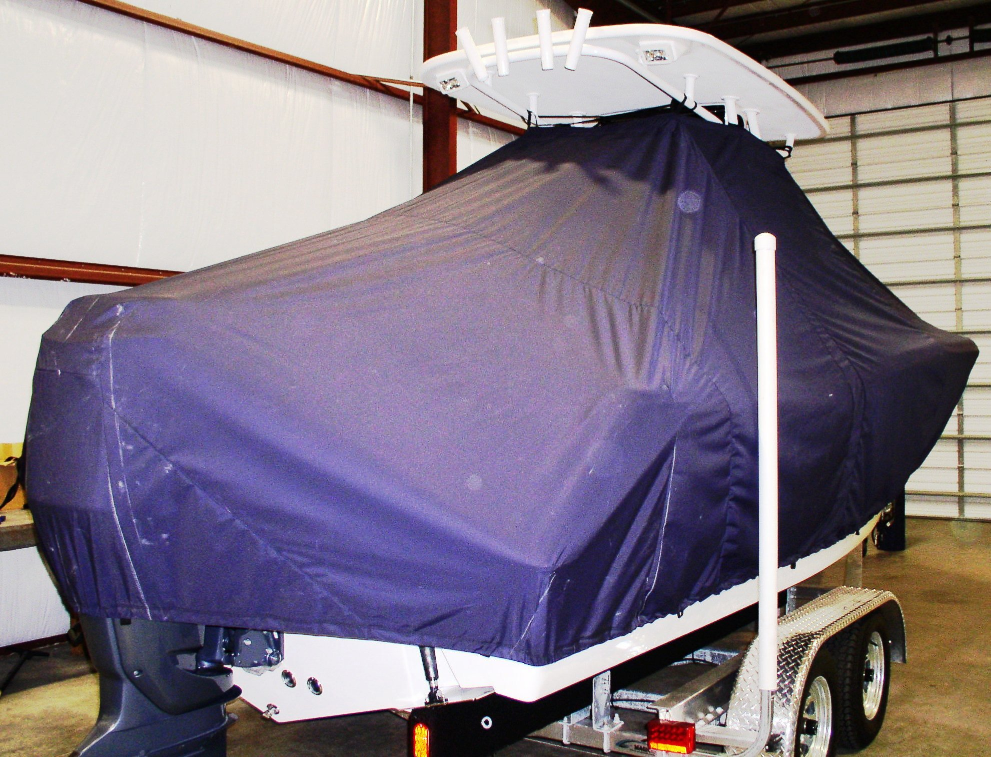 Tidewater 232CC, 20xx, TTopCovers™ T-Top boat cover, starboard rear