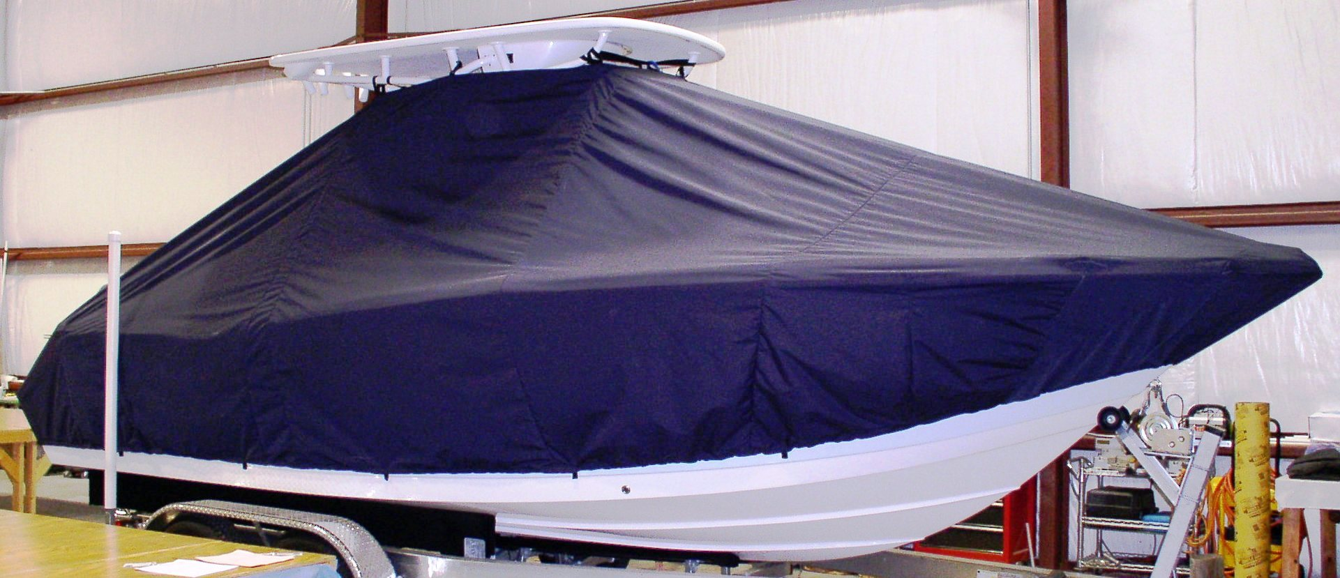 Tidewater 232CC, 20xx, TTopCovers™ T-Top boat cover, starboard side