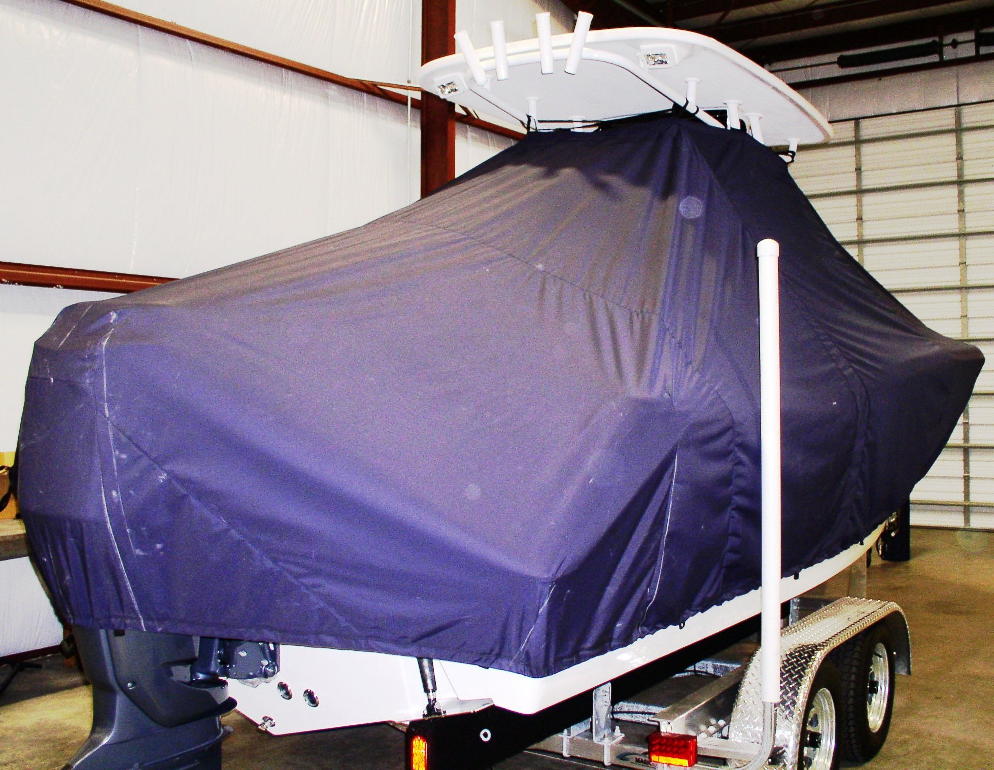 Tidewater 232LXF, 20xx, TTopCovers™ T-Top boat cover, starboard rear