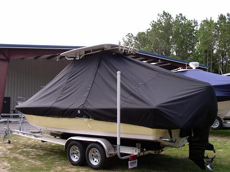 Tidewater 2400 Bay Max, 20xx, TTopCovers™ T-Top boat cover Rear 503