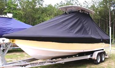 Tidewater 2400 Bay Max, 20xx, TTopCovers™ T-Top boat cover, port front