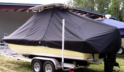 Tidewater 2400 Bay Max, 20xx, TTopCovers™ T-Top boat cover, port rear