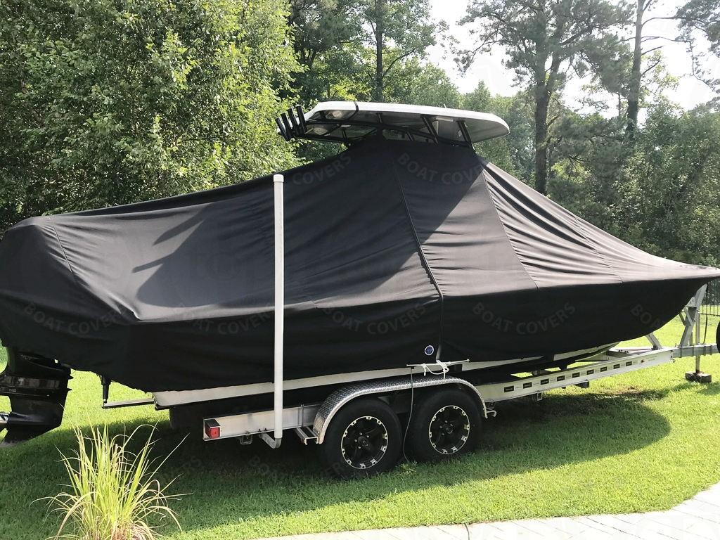 Tidewater 2500 Custom Carolina Bay, 20xx, TTopCovers™ T-Top boat cover, port rear