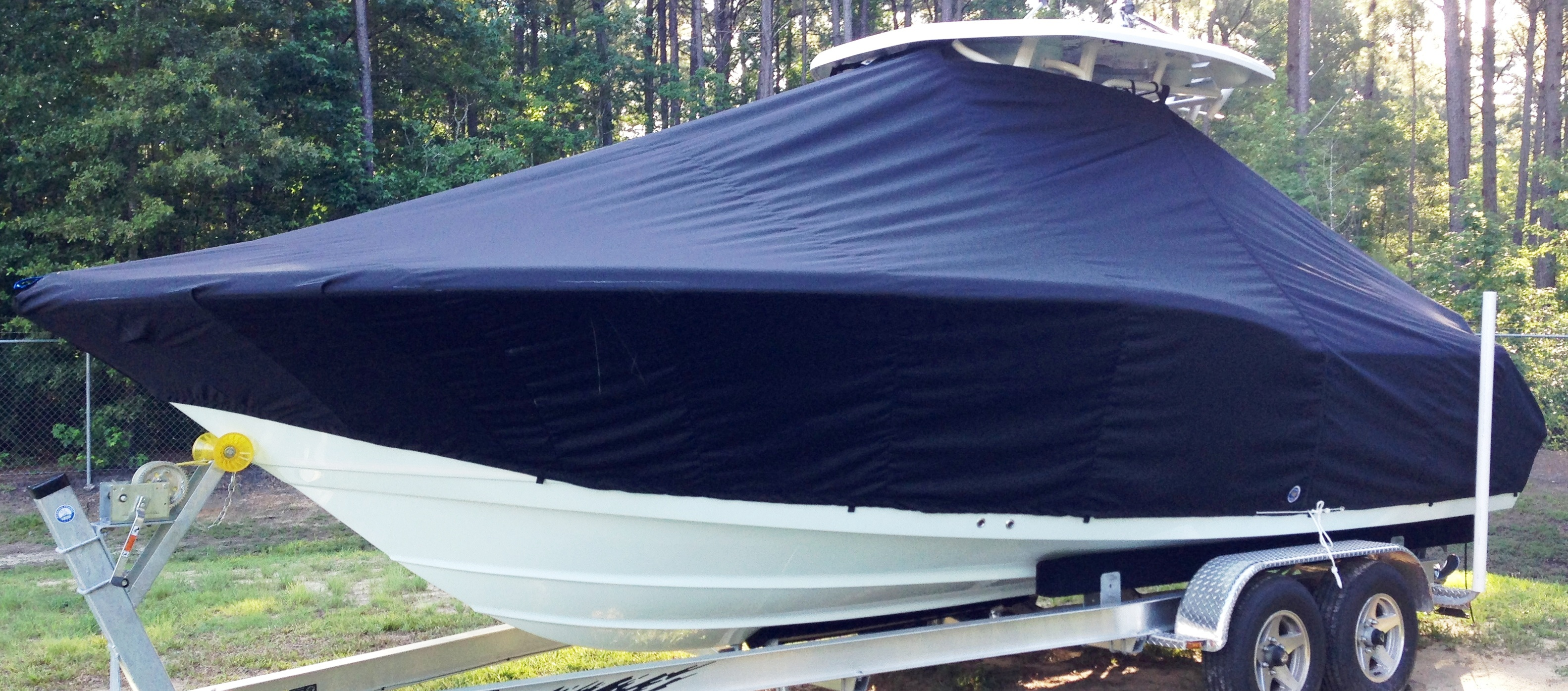Tidewater 250CC, 20xx, TTopCovers™ T-Top boat cover, port front