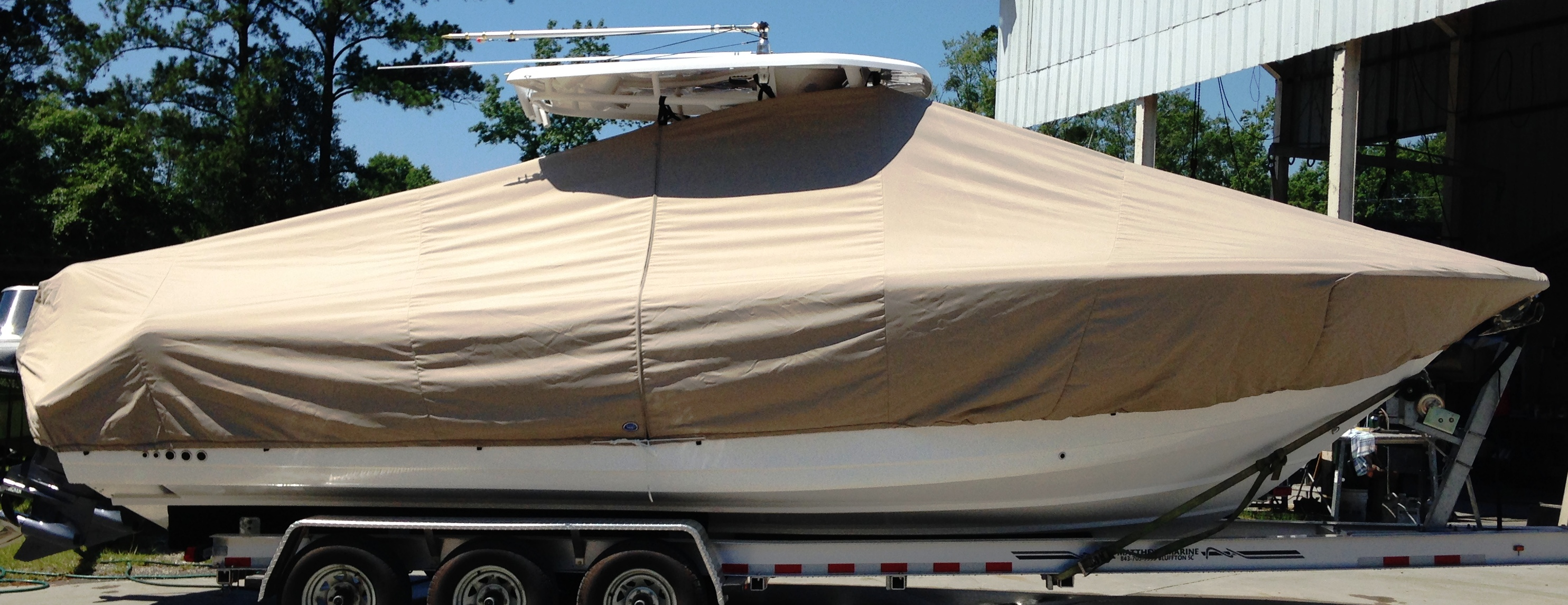 Tidewater 280CC, 20xx, TTopCovers™ T-Top boat cover, starboard side
