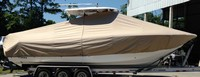 Photo of Tidewater® 280CC 20xx T-Top Boat-Cover, viewed from Starboard Side