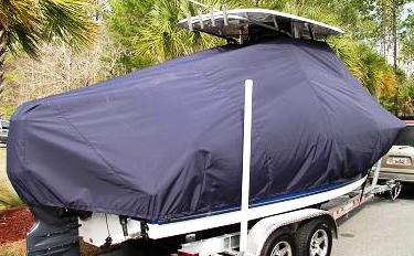 Triton 225CC, 20xx, TTopCovers™ T-Top boat cover, starboard rear