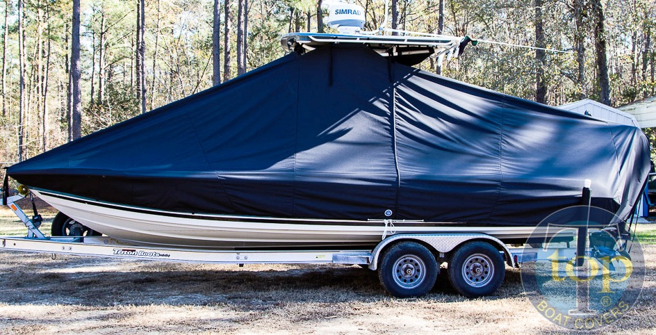 Triton 240 LTS, 20xx, TTopCovers™ T-Top boat cover, starboard side