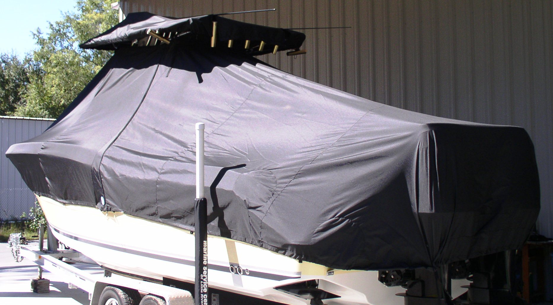 Triton 2895CC, 20xx, TTopCovers™ T-Top boat cover, port rear