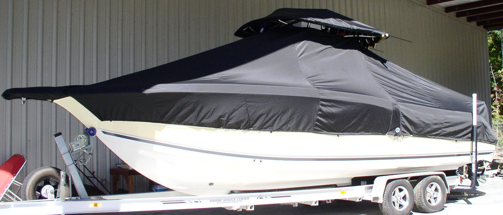 Triton 2895CC, 20xx, TTopCovers™ T-Top boat cover, port side