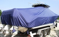 TTopCover™ Triton, 351CC, 20xx, T-Top Boat Cover, Sand Bags, stbd rear