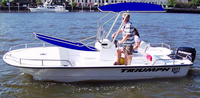 Photo of Triumph 1700 Skiff, 2009: T-Topless™ Folding T-Top 10deg