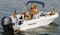 Photo of Triumph 191FS, 2007: Bimini Top in Boot (Factory OEM website photo), viewed from Starboard Rear