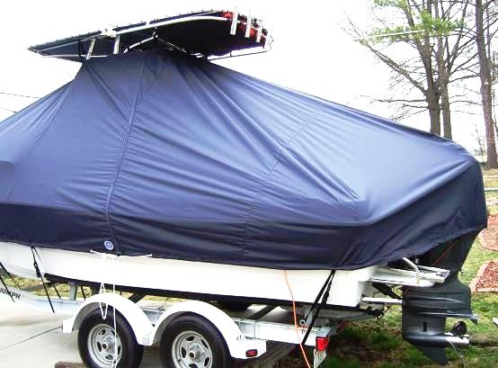 Triumph 215CC, 20xx, TTopCovers™ T-Top boat cover, port rear