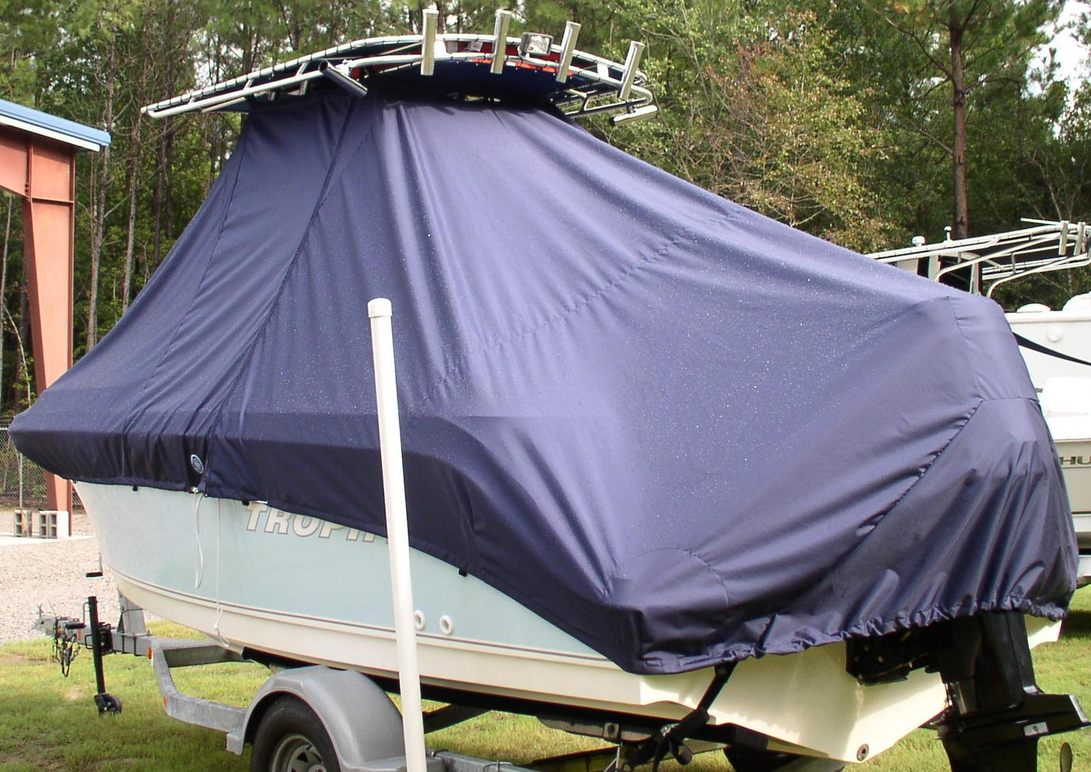 Trophy, 1903 CC, 20xx, TTopCovers™ T-Top boat cover, port rear
