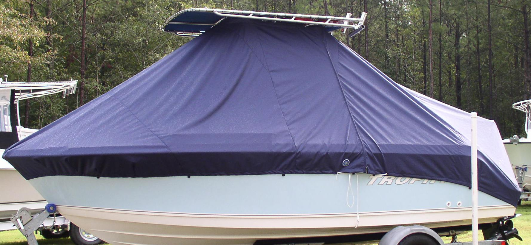 Trophy, 1903 CC, 20xx, TTopCovers™ T-Top boat cover, port side