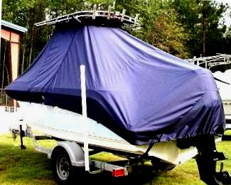 Trophy, 1903CC, 20xx, TTopCovers™ T-Top boat cover, port rear