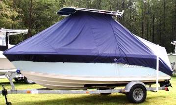 Trophy, 1903CC, 20xx, TTopCovers™ T-Top boat cover, port side